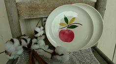 Check out this item in my Etsy shop https://www.etsy.com/listing/269025261/art-pottery-vintage-salad-plate-set-of-2