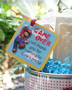 super mario party ideas favor tag