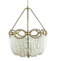 Fiona Chandellier- Custom-made White Beads or Sea Glass and Hemp