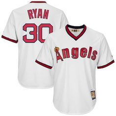 5df4ceade Nolan Ryan Los Angeles Angels Majestic Cool Base Replica Cooperstown Player  Jersey - White