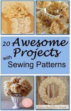 20 Awesome Projects Made with Sewing Patterns is featured in Bowdabra Feature Friday Favorite Five..!! #DIY