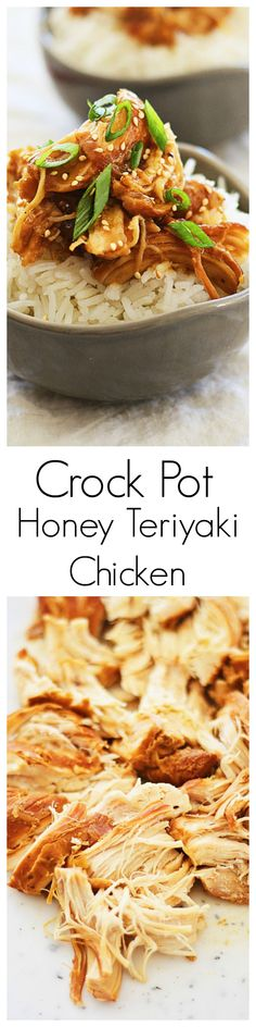 Crock Pot Honey Teriyaki Chicken – tender chicken with sweet and savory honey teriyaki sauce. Super quick, easy, and takes only 10 mins to prep | rasamalaysia.com
