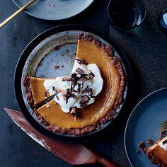 Thanksgiving pumpkin pie recipes include classic pumpkin pie and chocolate-swirled pumpkin pie. Plus more Thanksgiving pumpkin pie recipes. Pumpkin Cream Pie, Homemade Pumpkin Puree, Pumpkin Custard, Pumpkin Pie Recipes, Pumpkin Pies, Sour Cream Chocolate Cake, Chocolate Wafer Cookies, Chocolate Cheesecake, Pumpkin Cheesecake