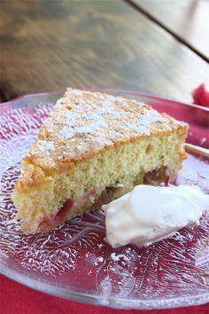 Brown Butter Rhubarb Cake