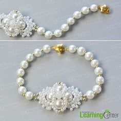 make the fourth part of the white pearl bead bracelet