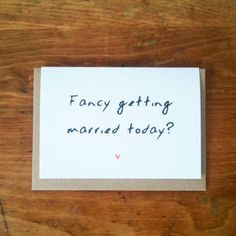 'Fancy Getting Married' Wedding Day Card - wedding cards