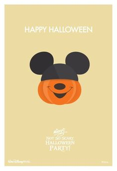 Mickey's Not So Scary Halloween Party! Mickey Mouse Disney Disney world Disneyland Mickey Halloween, Theme Halloween, Scary Halloween, Happy Halloween, Disneyland Halloween, Halloween Poster, Halloween Makeup, Halloween Costumes, Disney Dream