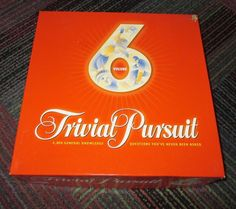 NEW PARKER BROTHERS 2003 TRIVIAL PURSUIT VOLUME 6 TRIVIA BOARD GAME, NOB NICE #PARKERBROS