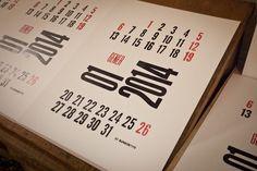 2014 Typographic Calendar | BunkerType
