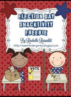 Life Is Sweet....In Kindergarten!: Election Day Freebie