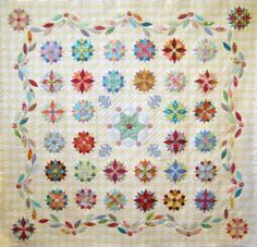 Jenni Samuel from McKinney Texas showing  her version of Sue Daley's  Under the Southern Stars pattern.