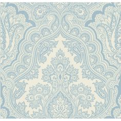 566-43977 Blue Paisley - Isla - Kenneth James Wallpaper  This is what I choose in the wallpaper store