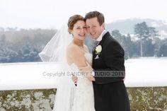 A Christmas winter wedding at Eastnor Castle  www.eastnorcastle.com #eastnorcastle A romantic, fairytale exclusive-use castle wedding venue.