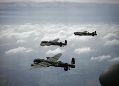 Three Avro Lancaster B.Is of 44 Squadron,based at Waddington, Lincolnshire, in Photo: RAF Gloster Meteor, B 17, Pearl Harbor, Ww2 Aircraft, Military Aircraft, Aircraft Photos, Lancaster Bomber, Ww2 Planes, Royal Air Force