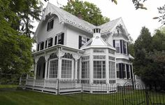 Omg this house is gorgeous and so unique! It's actually for sale (inside needs some updating) 1886 - Altamont, NY - $350,000 - Old House Dreams