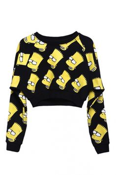 so cool //  OASAP.com Cartoon Print Sweatshirt Skirt Suit $112.00