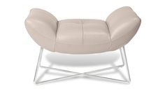Zuri Furniture- Medici Leather Modern Ottoman $348