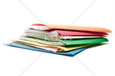 color coded - Stack of folders in different colors.