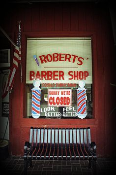 Roberts Barber Shop by Laurie Perry #barbershop #americana #lperryphotography