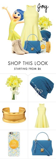 """""""Joy - Spring - Disney Pixar's Inside Out"""" by rubytyra ❤ liked on Polyvore featuring Pavilion Broadway, Keds, Stephanie Kantis, Elizabeth and James, Casetify, Mark Cross and Gianvito Rossi"""