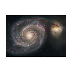 Галактика NGC 5195 ❤ liked on Polyvore featuring backgrounds and moon
