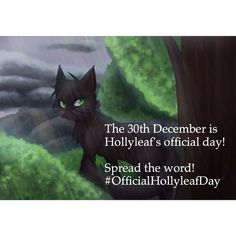 Hollyleaf's Official Day #officialhollyleafday <----- YAYYY! I LOVE HOLLYLEAF!!!!