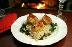 Seared Scallops with Blood Orange Glaze www.fooddonelight.com #scallops #seafood #fish