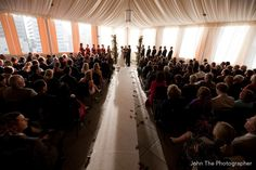 Ceremony overview shot with a dramatic wide angle lens