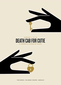 Death Cab For Cutie  #band #poster #design