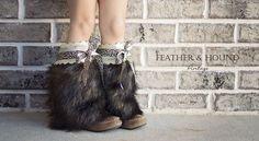 Fur Boot Cuffs: Wild Side