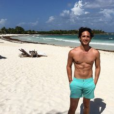 Diego Boneta is not shy about showing said abs and biceps, sharing plenty of shirtless and gym photos on his Instagram feed.
