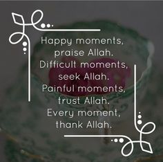 Alhamdulillah for having Allah in my life for everything I need!