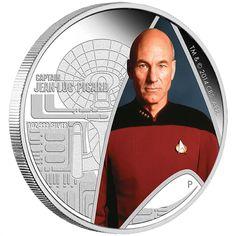 Star Trek: The Next Generation – Captain Jean-Luc Picard 2015 Silver Pr star trek , next generation coin , perth mint coin, silver bullion … Perth, Star Trek Transporter, Star Trek Captains, Video Clips, Star Wars, Star Trek Original, Gold And Silver Coins, Star Trek Universe, Coins For Sale