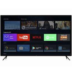 "Smart TV LED 50"" HQ HQSTV50NY Ultra HD 4K Netflix Youtube 3 HDMI 2 USB Wi-Fi - Magazine Bicicletascia Smart Tv, Media Smart, Tvs, Wi Fi, Netflix, Tv Led 50, Monitor, Shopping, Bud"