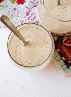 Decadent, dairy-free tahini date shake - cookieandkate.com