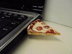 Back to school time is a great opportunity for some new school supplies - like this pizza flash drive :)