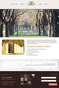 Sitio web Restaurant / Club de Campo La Matera Lodge - Diseño y Desarrollo: http://integralmedia.com.ar