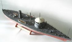 1/200 USS Tecumseh Paper Model - Steam - Military - Ships Paper Boats, Industry Models, Paper Ship, Lego War, Model Ships, Tall Ships, Paper Models, Model Building, American Civil War