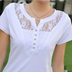 Dress Neck Designs, Blouse Designs, Modelos Fashion, Designer Blouse Patterns, T Shirts For Women, Clothes For Women, Madame, Fashion Outfits, Womens Fashion