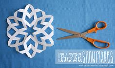 My kids and I have been making  snowflakes like this for several years, but this blog shows an even easier way to make them.