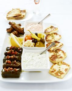 Greek food - Mezze Plate ....I want to wander around Greece in search of the best food