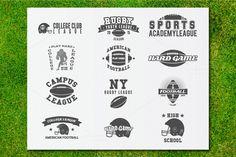 31 American Football Badges&Logos by Jekson Graphics on Creative Market