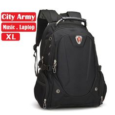 Quality swiss backpack large 14-17 inch notebook laptop bag man woman student rucksack travel daypack classic fashion waterproof