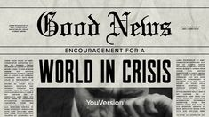 Goed nieuws: bemoediging voor een wereld in crisis: Dag 3 • Overdenking Dear God Quotes, Quotes About God, Youversion Bible, Bible Plan, Free Bible, Bible App, I Know The Plans, Day Plan, Daily Devotional