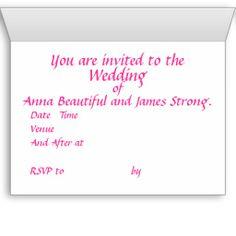 Wedding stationary range, customize cards