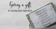 Wedding gift etiquette - do you give a gift even if you weren't invited?