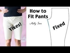 How to Fit Pants When Sewing - Pants Fitting Issues - Melly Sews Sewing Pants, Sewing Clothes, Diy Clothes, Clothing Patterns, Sewing Patterns, Shirt Patterns, Dress Patterns, Altering Pants, Sewing Alterations