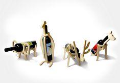 Suporte para vinhos - Bichos