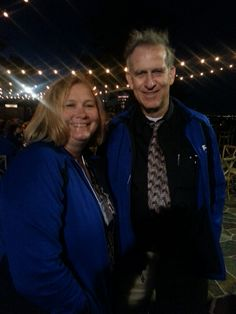 Michelle Long and Charlie Russell on a beautiful (albeit windy) evening at the Mountain Winery. #IntuitSummit