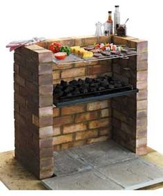 Built-in Charcoal BBQ Great Idea and much nicer than a rickety bought one.